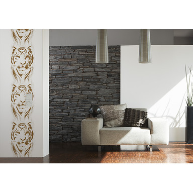 Dekopanele Livingwalls Dekopanel pop.up Panel Metallic, Weiss