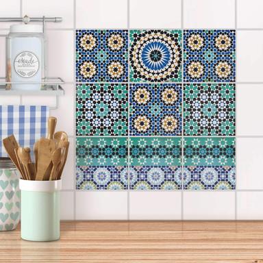 Fliesenaufkleber Set - Tuerkisches Mosaik