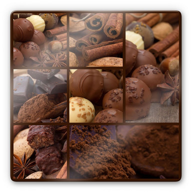 Glasbild Schokoladentraum - quadratisch