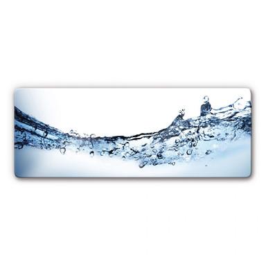 Glasbild Water Flow Panorama