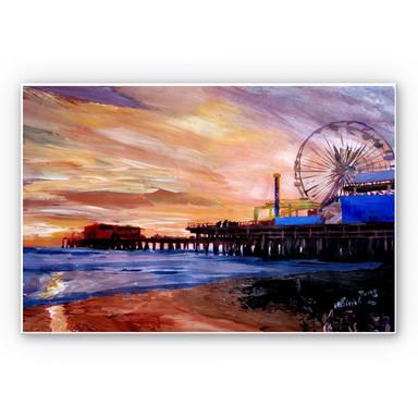 Hartschaumbild Bleichner - Santa Monica Pier