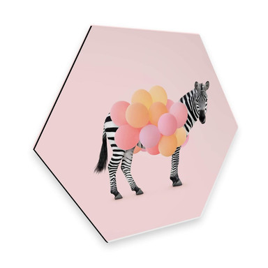 Hexagon - Alu-Dibond Fuentes - Zebra Balloon
