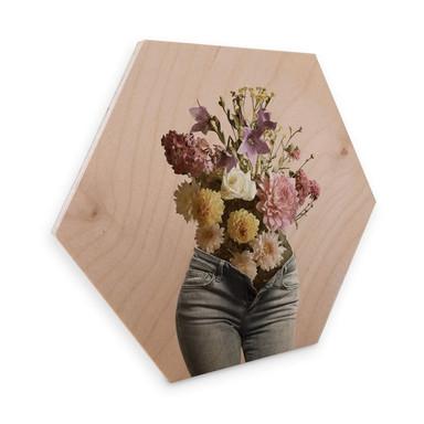 Hexagon - Holz Birke-Furnier Fuentes - Olivia