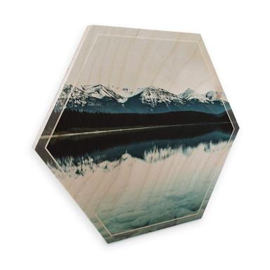 Hexagon - Holz Birke-Furnier - Idylle