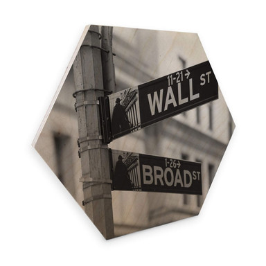 Hexagon - Holz Birke-Furnier - Wallstreet