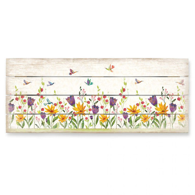 Holzbild Blanz - Blütenpoesie - Bild 1