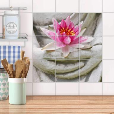 Klebefliesen - Flower Buddha
