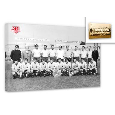 Leinwandbild Eintracht Braunschweig Meistermannschaft 1967