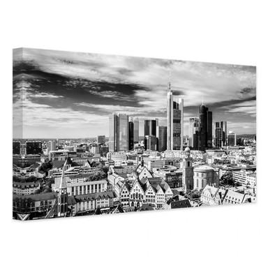 Leinwandbild Frankfurter Skyline