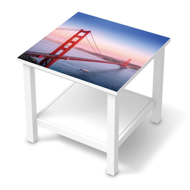 Möbel Klebefolie IKEA Hemnes Tisch 55x55cm - Golden Gate- Bild 1