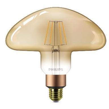 Philips LED Mushroom Gold ersetzt 30W, E27. warmweiss, 2000 Kelvin, 350 Lumen, Dekolampe, Dimmbar Energieklasse A&