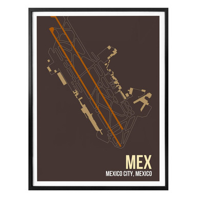Poster 08Left - MEX Grundriss Mexico City