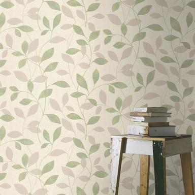 Rasch Vliestapete Andy Wand mit Blätterranken lindgrün