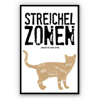 Wandbild Streichelzonen - Katze
