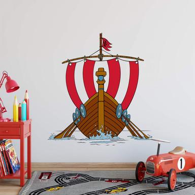 Wandsticker Wikingerschiff 2