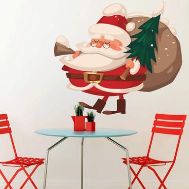 Wandtattoo Weihnachtsmann (vintage)