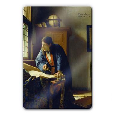 Glasbild Vermeer - Der Geograph