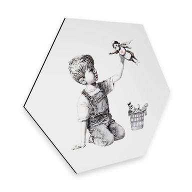 Hexagon - Alu-Dibond Banksy - Real Hero
