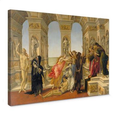 Leinwandbild Botticelli - Die Verleumdung des Apelles