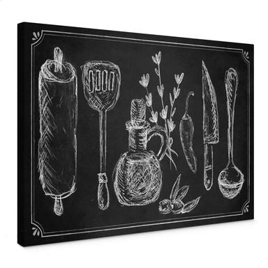 Leinwandbild Rustic Kitchen