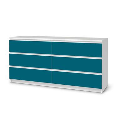 Möbelfolie IKEA Malm Kommode 6 Schubladen (breit) - Türkisgrün Dark