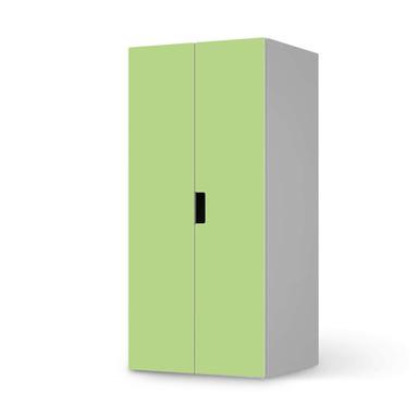 Möbelfolie IKEA Stuva / Malad Schrank - 2 grosse Türen - Hellgrün Light