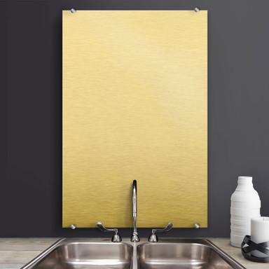 Spritzschutz Alu-Dibond-Goldeffekt - hochkant