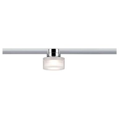 URail LED Spot Ceiling Topa Dot 5.2W Chrom und Klar und Satin dimmbar