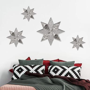 Wandtattoo Metallic Star Silver