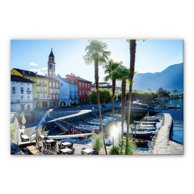 Acrylglasbild Hafen am Lago Maggiore