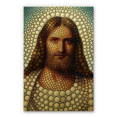 Alu-Dibond-Goldeffekt - Ben Heine - Circlism JesusChristus