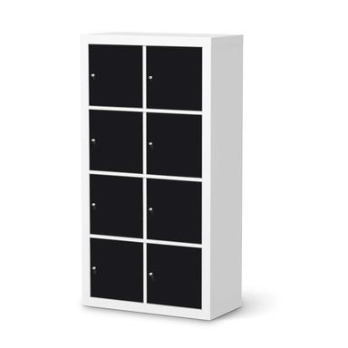 Folie IKEA Kallax Regal 8 Türen - Schwarz