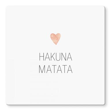 Glasbild Confetti & Cream - Hakuna Matata