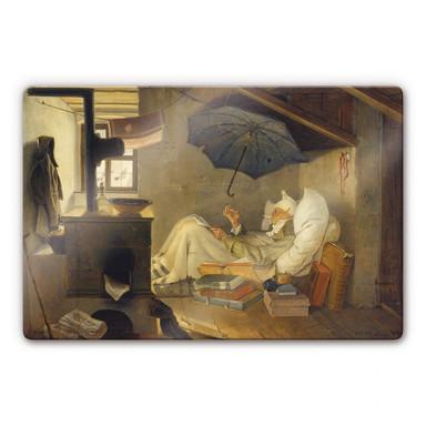 Glasbild Spitzweg - Der arme Poet