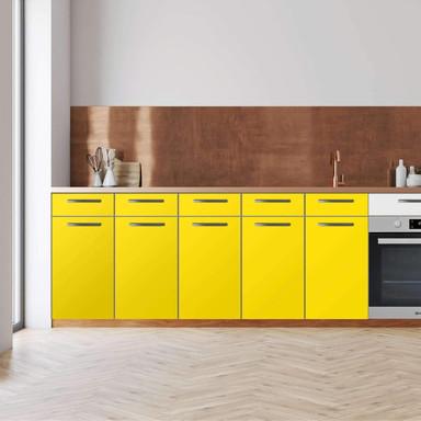 Küchenfolie - Unterschrank 200cm Breite - Gelb Dark