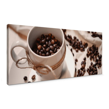 Leinwandbild Kaffee Zauber - Panorama