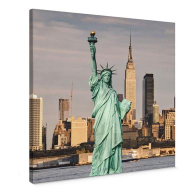 Leinwandbild Statue of Liberty - Quadratisch