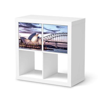 Möbel Klebefolie IKEA Expedit Regal 2 Türen (quer) - Sydney