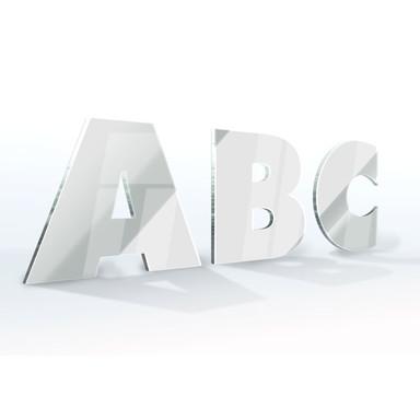 Spiegel-Dekobuchstaben - Schriftart Futura