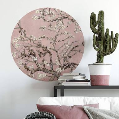 Wandtattoo van Gogh - Mandelblüte rosé - Rund