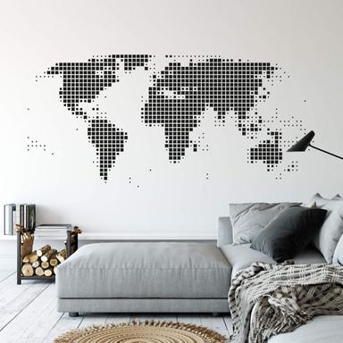 Wandtattoo Weltkarte abstrakt