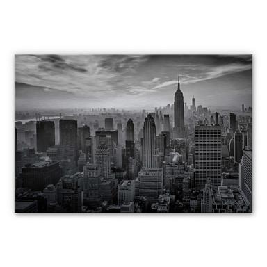 Alu-Dibond-Silbereffekt Schilbe - Hazy Gotham
