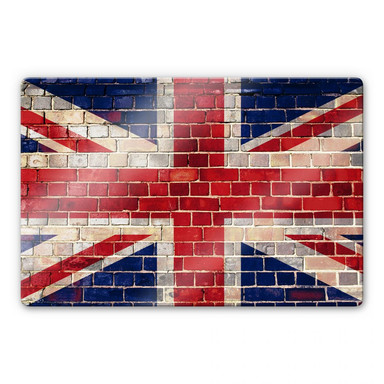 Glasbild Union Jack Mauer