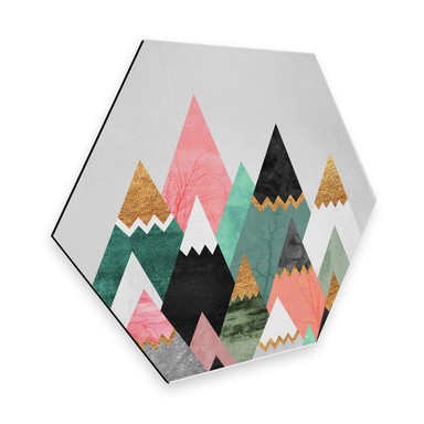 Hexagon - Alu-Dibond Fredriksson - Bunte Berge