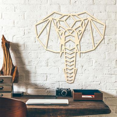 Holzkunst Pappel - Origami Elefantenkopf