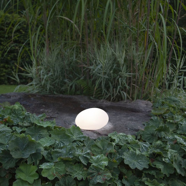 LED Solar Kugel Globy in Weiss IP44 135x265x200mm