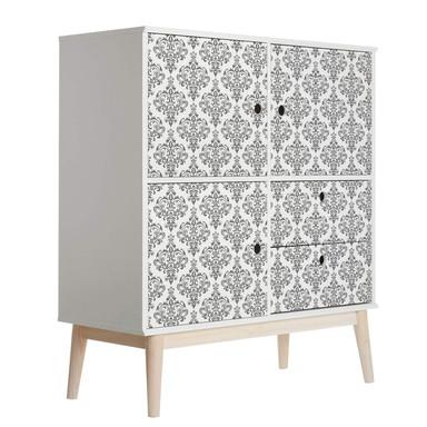 Möbelfolie, Dekofolie - abwischbar - Barock Grau