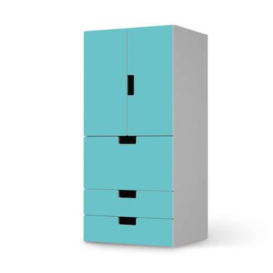 Möbelfolie IKEA Stuva / Malad - 3 Schubladen und 2 kleine Türen - Türkisgrün Light