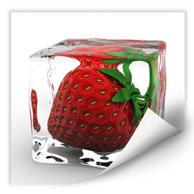 Wallprint Erdbeereiswürfel