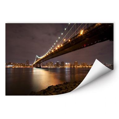 Wallprint Manhattan Bridge at Night